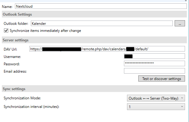 Your own Cloud: Sync calendar and contacts with Outlook and