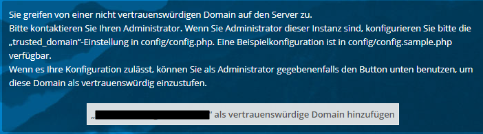 untrusted domain