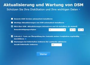 DSM-Update-Einstellungen
