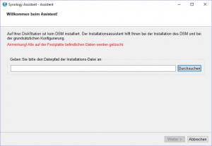 Auswahl der DSM-Datei.