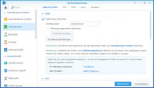 Dateidienste aktivieren