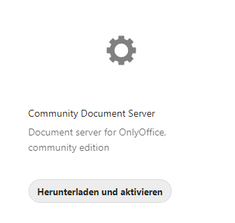 Die App Community Document Server
