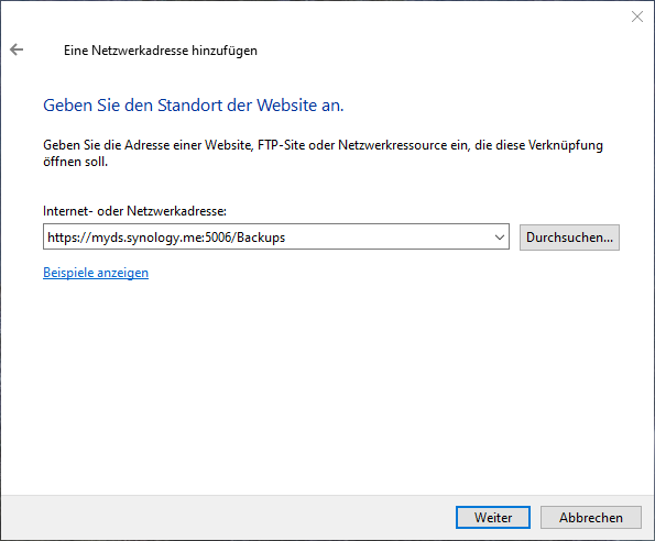 WebDAV unter Windows